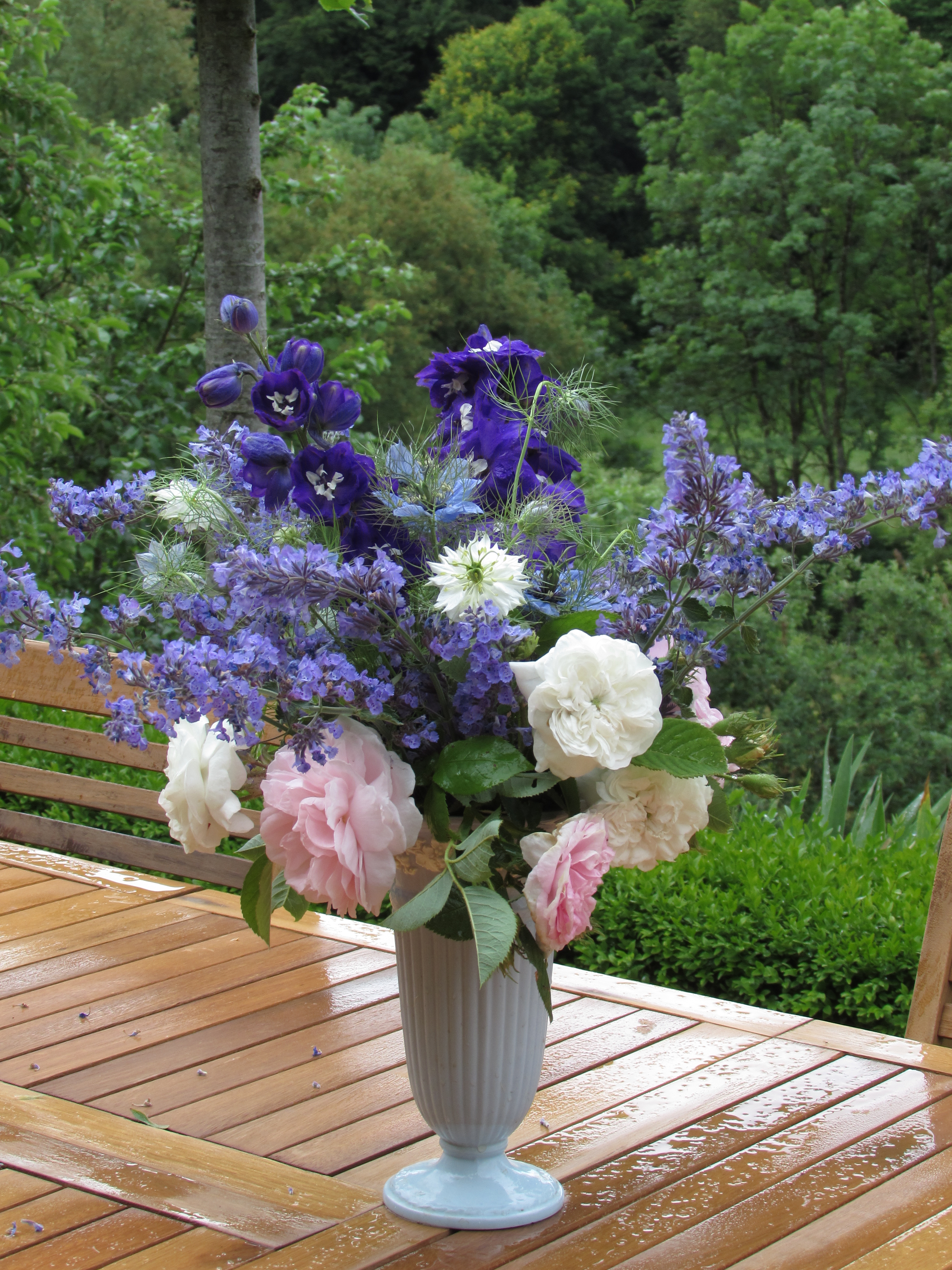 in a vase on monday nick s delphiniums garden dreaming at ch tillon. Black Bedroom Furniture Sets. Home Design Ideas